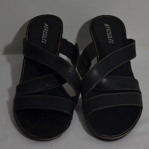 Aerosoles Charlotte Black Strap Summer Heels